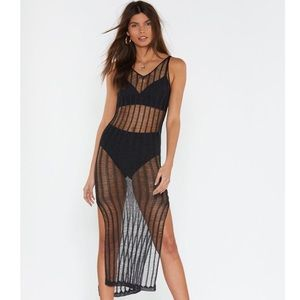 NWT Nasty Gal Top Of The Ladder Swim Coverup